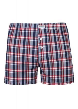Bokserki męskie Henderson luźne czerwona krata (Plus Size)