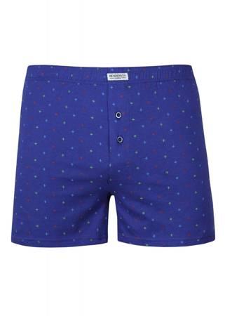 Bokserki męskie Henderson luźne niebieskie (Plus Size)