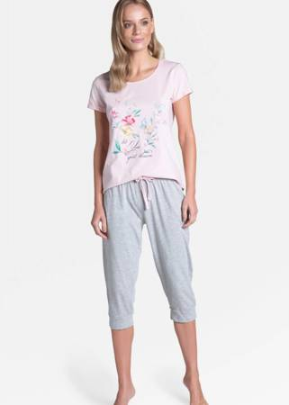 Piżama damska Henderson Tamia różowa